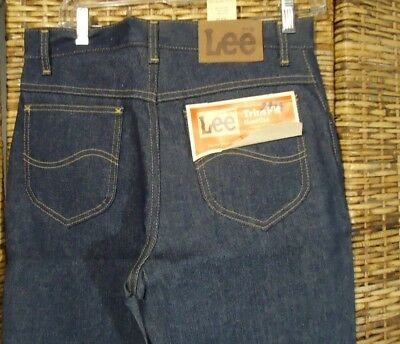 NOS Vtg Lee Riders Students Trim Fit Boot Cut Orange Tab HW Denim Jeans 30/33 US