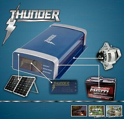 Thunder 40A Amp Dual Battery Isolator System Kit Dc To Dc Charger Mppt Solar Agm