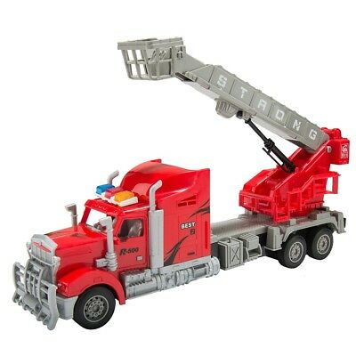 1/15 Scale Remote Control RC Crane Truck W/Rescue Basket Set Kids Toys Car Red
