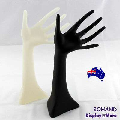 RELIABLE Solid Resin Open HAND-Jewellery Stand | Black or Frost | AUSSIE Seller
