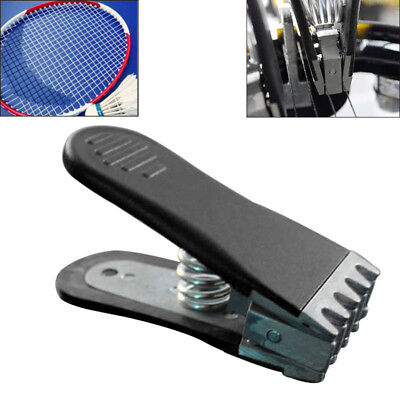 Badminton Clamp Spring Loaded Tennis Flying Gripper Racket Stringing Tool New