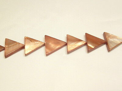 10 x Natural Dyed Shell Beads:BNSP9 Caramel Triangle