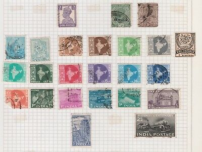 INDIA COLLECTION Early Issues Train, Dam, Map, etc ,As Per Scan F/U U  #
