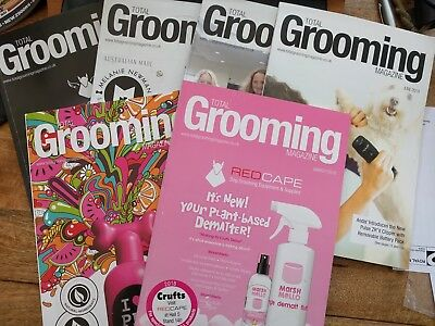 6 x Total Grooming Dog Magazines book ideal for student groomer great condition