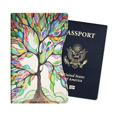 Passport Holder Slim Vegan Leather RFID Blocking Travel Wallet Case Cover