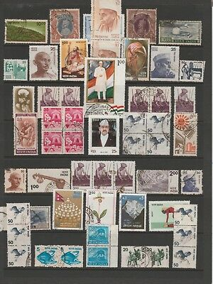 INDIA COLLECTION Birds Cotton Ghandi, etc USED as per scan #
