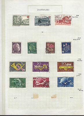 SWITZERLAND 1948-49 Collection FINE USED on Page  Stamps removed for Ship