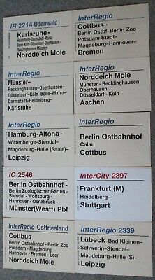 10 verschiedene Zuglaufschilder Train destination sign (3)