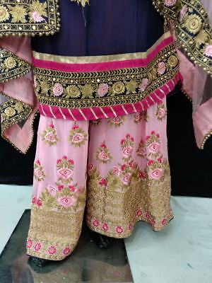 Indian Long Suit With Stitched Heavy Garaara And For Side Dupatta