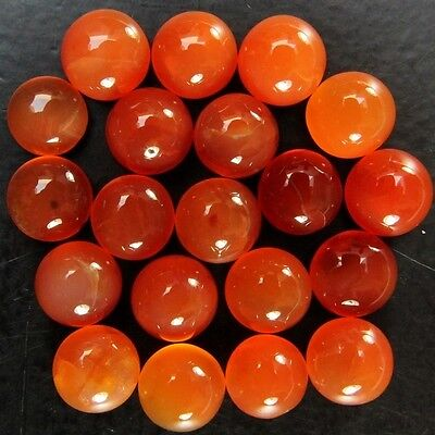 20 Pcs LOT OF 9-10mm ROUND CABOCHON LOW GRADE NATURAL EARTH MINED CARNELIAN
