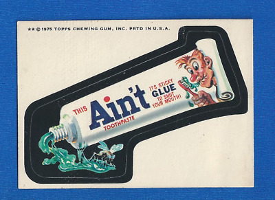 1975 Topps  Original  Wacky Packages 14th Series Ain't Toothpaste  white back