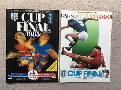 1985 & 1986 F.A.Cup Final Programmes Everton Manchester United Liverpool
