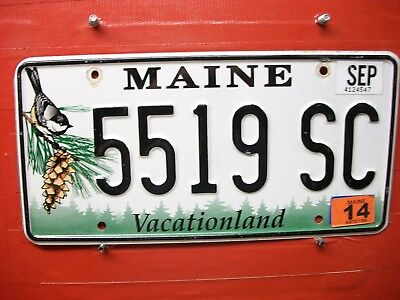 Maine  = 2014 = Chickadee  Pass =  License Plate = 265