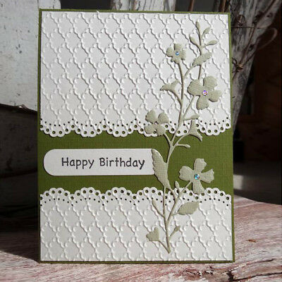 Cover Lace Design Metal Cutting Die For DIY Scrapbooking Album Paper Card E UK