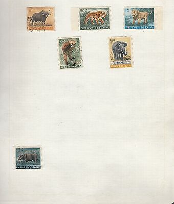 INDIA Collection on Old Album Page stamps removed for shipping(c)
