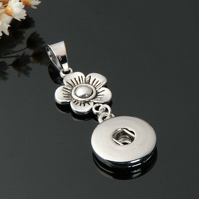 18mm Charm Crystal Alloy Pendant for Fit Noosa Necklace Snap Chunk Button A33