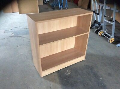 Beech Two Shelf Bookcase