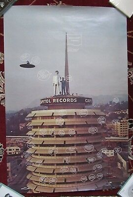 Beatles 1974 VINTAGE RINGO STARR ' GOODNIGHT VIENNA  IN STORE PROMOTIONAL POSTER