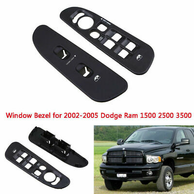 Power Window Panel Switch Bezel Control Cover For 02-05 Dodge Ram 1500 2500 3500