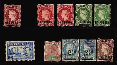 St Helena Bwi British Colony Mlh & Used Cancel Postmarks Cv$120