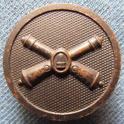 WWI US Army enlisted Coast Artillery Corps Type 1 collar disc