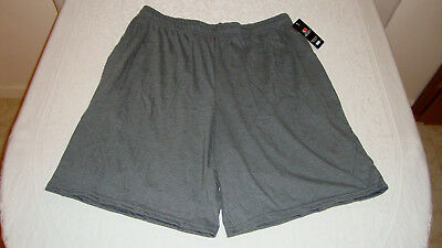 Unisex Fruit of the Loom Jersey Shorts Dark Charcoal Heather Sz. L NEW With Tags
