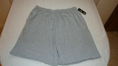 Unisex Fruit of the Loom Jersey Shorts Athletic Heather Grey Sz. L NEW With Tags
