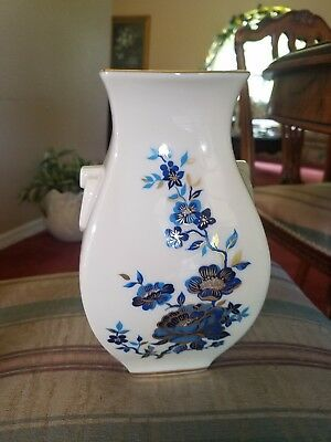 White Lenox Flower Vase With Gold Trim Rose In Relief 15 75 Picclick