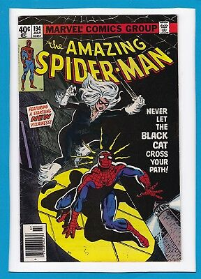 AMAZING SPIDER-MAN #194_JULY 1979_FINE+_1st APPEARANCE BLACK CAT_BRONZE AGE!
