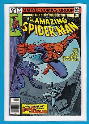 AMAZING SPIDER-MAN #200_JAN 80_VF+_200th ANNIVERSARY_CLASSIC SPIDEY Vs BURGLAR!