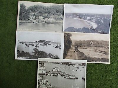 5 Falmouth Postcards 1900s -1950s