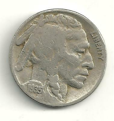 Very Nicely Detailed Better Date 1935 D Buffalo Nickel