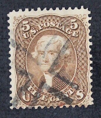 CKStamps: US Stamps Collection Scott#75 5c Jefferson Used CV$450