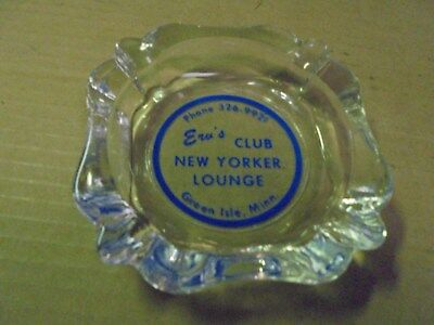 Vintage Erv's Club New Yorker Lounge,  Green Isle, Minn. Ash Tray Minnesota