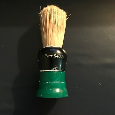 2 Vintage Ever-Ready Shaving Brush 150W Green and Black