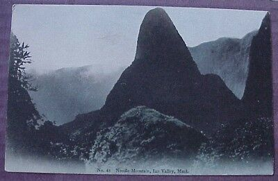 1910's Needle Mtn Iao Valley Maui TH Hawaii Hilo Drug #48 Hand Tinted in Japan