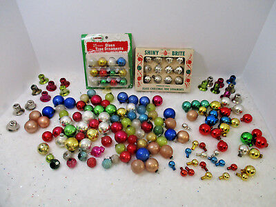 147-Vintage Feather Tree Glass Christmas Ornaments Shiny Brite Plus 17 Bells