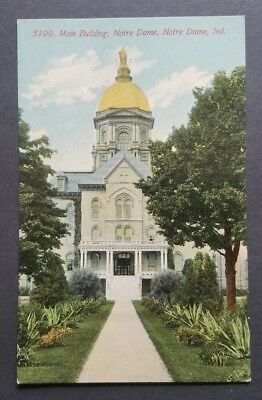 Notre Dame, Indiana - Main Building At Notre Dame College Pre-1915 Old Postcard