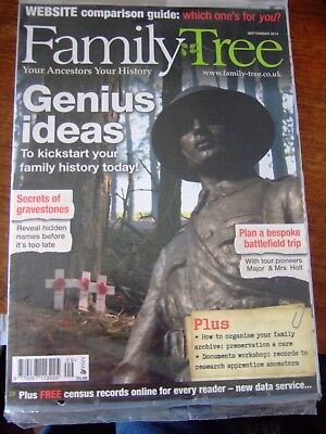 5 Family Tree Magazines - 2014 - September, October, November, December & Xmas