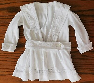 Vintage childrens white dress broderie anglaise 1970s girls clothes sailor suit