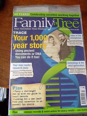 4 Family Tree Magazines - 2014 - May + June + July + August