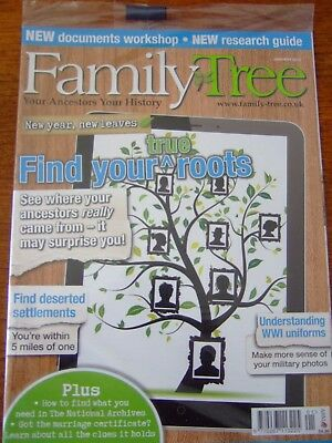 4 Family Tree Magazines - 2014 - January + February + March + April