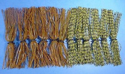 Lot of 12 Big Strike- Jig - Spinnerbait -Silicone Skirts-MIXED COLORS-