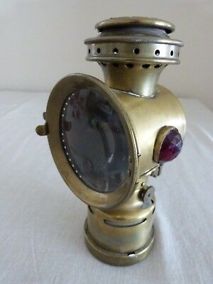 Antique Vintage BRASS NEVEROUT BICYCLE LAMP Insulated Kerosene