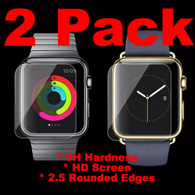 2 Pack Tempered Glass For Apple Watch 42mm Series 1 2 3 S1 S2 S3 Screen Cover