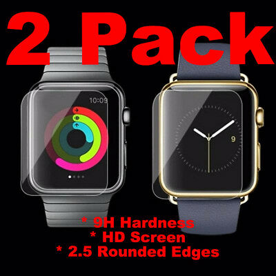 2PACK Tempered Glass For Apple Watch 42mm Series 1 2 3 S1 S2 S3 Screen Cover HD