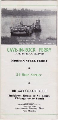 c1950 Cave-In-Rock Ferry Cave In Rock Illinois Brochure