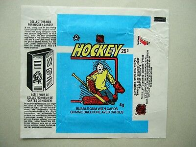 1982/83 O-Pee-Chee Hockey Card Wax Pack Wrapper Grant Fuhr Rookie Cl Nice Opc
