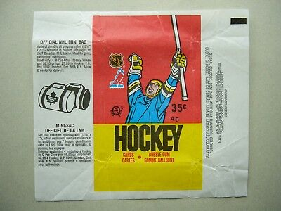 1987/88 O-Pee-Chee Nhl Hockey Card Wax Pack Wrapper Luc Robitaille Rookie Mb Opc