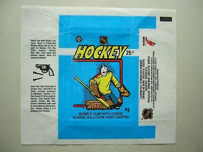 1982/83 O-Pee-Chee Hockey Card Wax Pack Wrapper Grant Fuhr Rookie Scd Nice Opc